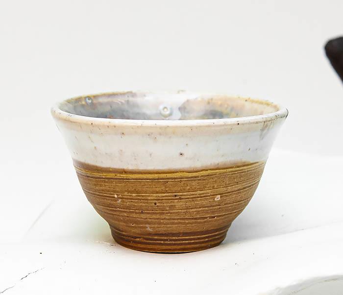 CUP115 Пиала ручной работы коричневого цвета фото 02