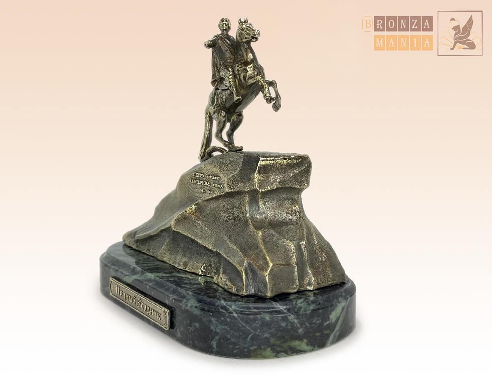 статуэтка Медный всадник на змеевике