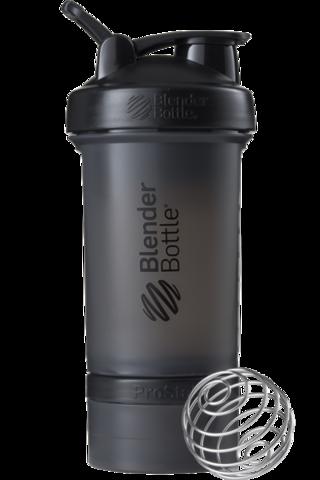 BlenderBottle ProStak, 650мл Шейкер с 2мя контейнерами, таблетницей и пружиной Черный blenderBottle.ru