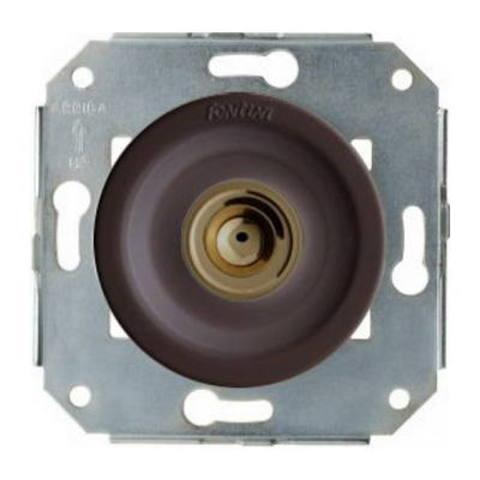 Выключатель/кнопка нажимной 10А 250В~. Цвет Бронза/коричневый. Fontini Venezia(Фонтини Венезия). 35310572