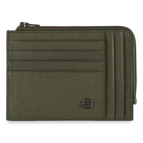 Чехол для кредитных карт Piquadro Black Square (PU1243B3R/VE) зеленый кожа