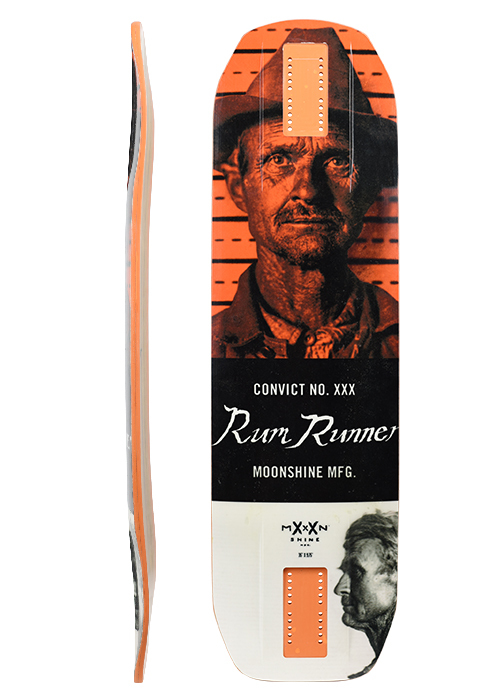 ДЕКА ЛОНГБОРД  MOONSHINE RUM RUNNER CONVICT WHITE/ORANGE