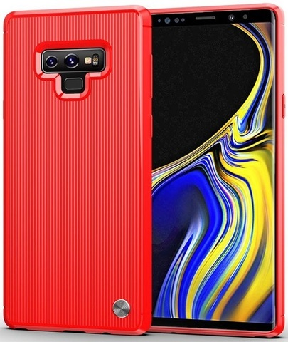 Чехол Samsung Galaxy Note 9 цвет Red (красный), серия Bevel, Caseport