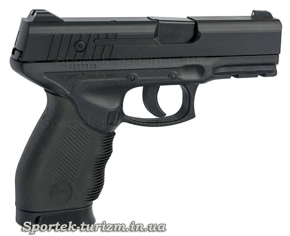Вигляд справа на пістолет пневматичний SAS PT 24/7 калібру 4,5 мм,