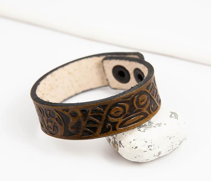 BL783 Браслет ручной работы с полинезийским узором
