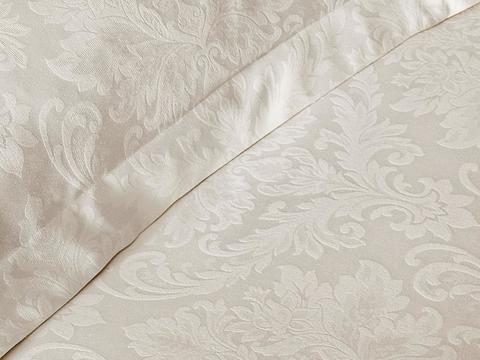 Постельное белье BAMBURA  кремовый жаккард deluxe TIVOLYO HOME Турция