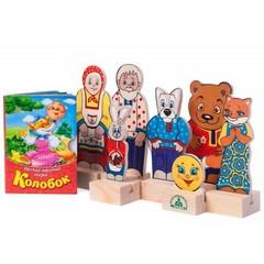 набор фигурок Персонажи сказки Колобок, Краснокамская игрушка