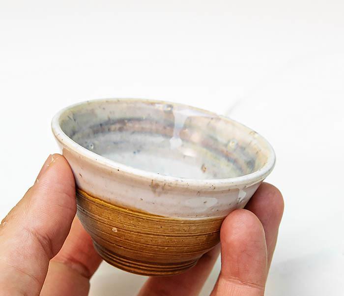 CUP115 Пиала ручной работы коричневого цвета фото 07