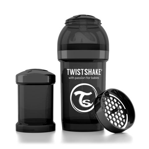 Twistshake бутылочка антиколиковая 180 мл. Чёрная (Superhero)