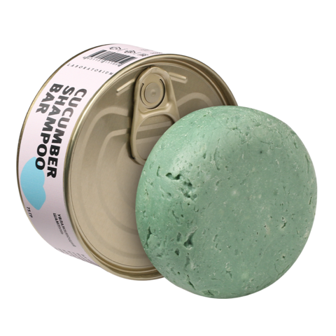 Шампунь твердый Cucumber shampoo bar с огурцом Laboratorium, 75 г