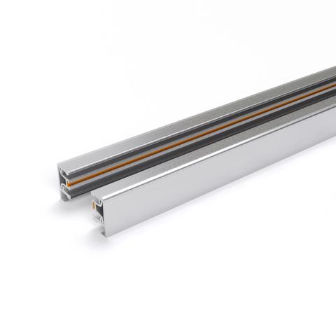 Однофазный шинопровод серебристый 1м (с вводом питания и заглушкой) TRL-1-1-100-CH
