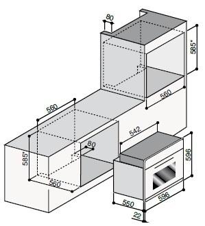 Газовый независимый духовой шкаф ILVE 600 LVG сталь