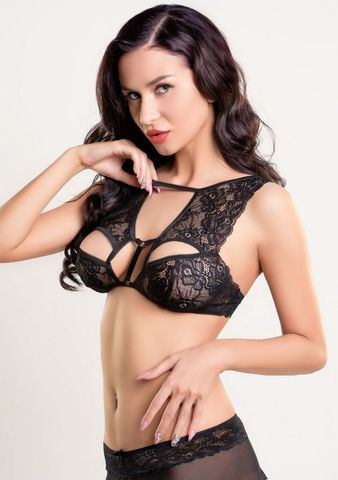 Кружевной сексуальный бралетт Darina черный