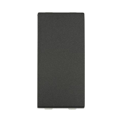 Выключатель 45х22,5 мм 16 A, 250 В~ 1 модуль (схема 1). Цвет Чёрный бархат. LK Studio LK45 (ЛК Студио ЛК45). 850108