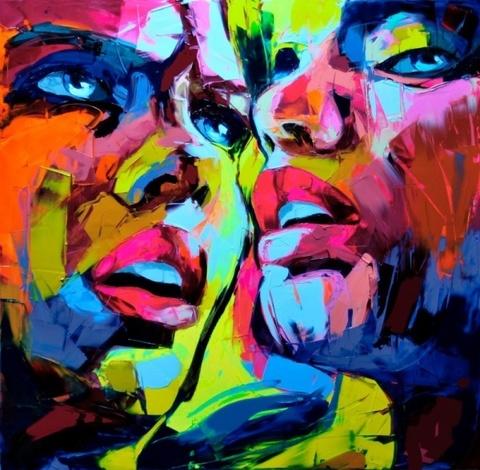 Абстрактный портрет парный - картина по номерам