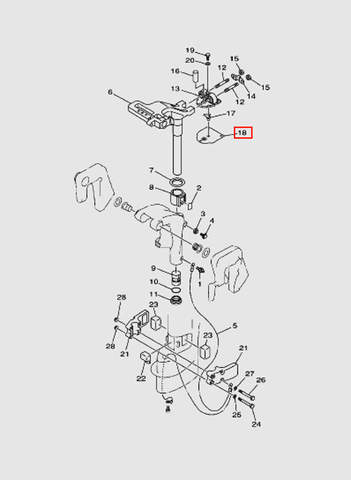 Прокладка  для лодочного мотора T15, OTH 9,9 SEA-PRO (14-18)