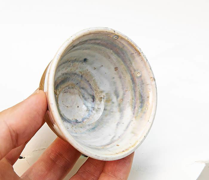 CUP115 Пиала ручной работы коричневого цвета фото 08