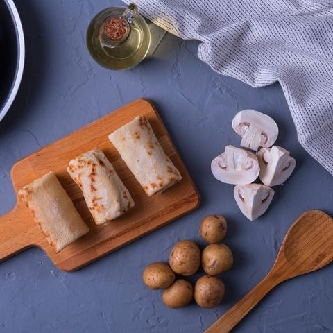 Фотография Блины с картофелем и грибами / 500 г купить в магазине Афлора
