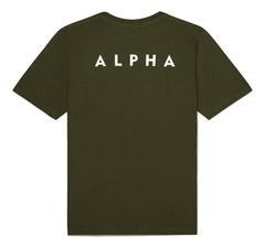Футболка Alpha Industries Reflective Small Logo Olive (Зеленая)