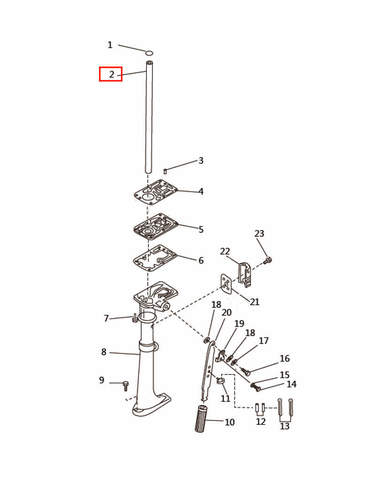 Защита привода  для лодочного мотора T2,5 SEA-PRO (7-2)