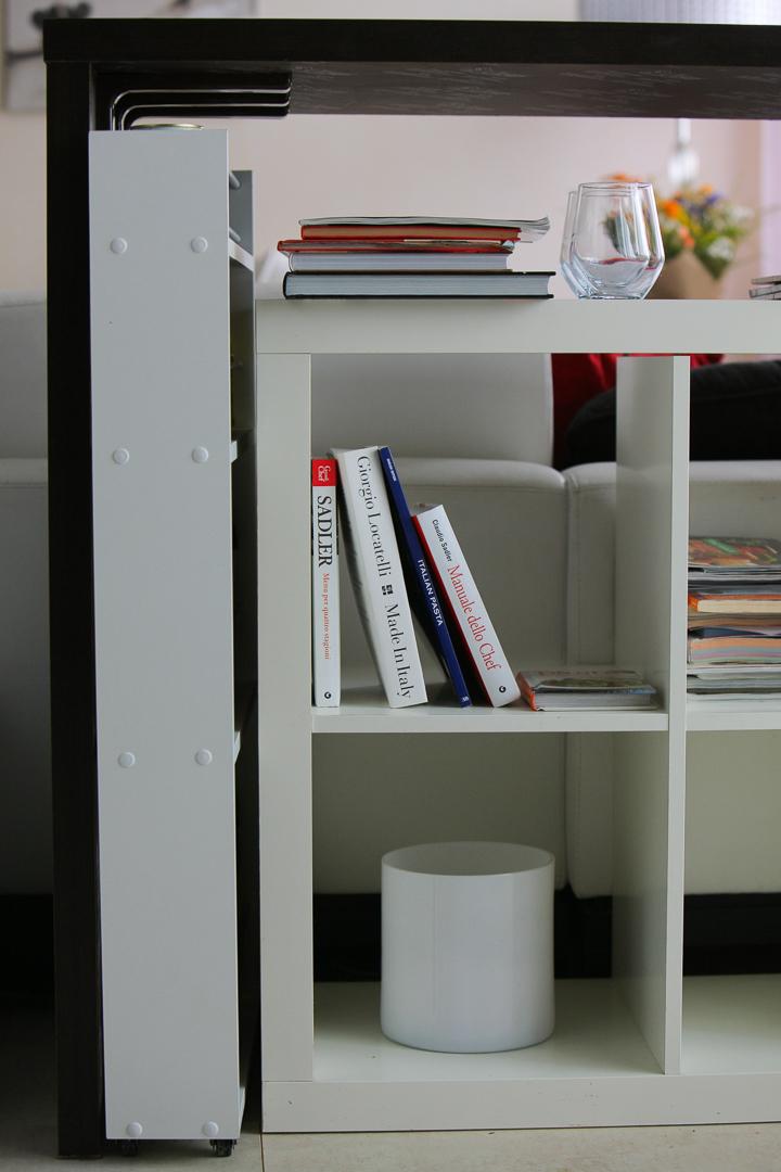 Полка выдвижная, для кухни и ванной комнаты 94х52х16 см, 4-х этажная, белый