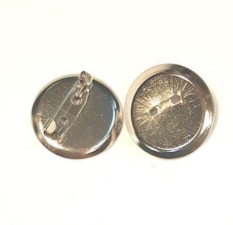 Основа для броши - диск 24 мм платина