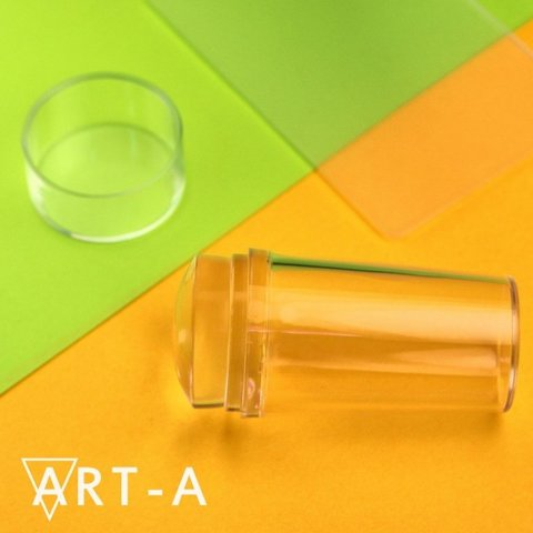 Art-A Штамп прозрачный 2,8см + скрапер