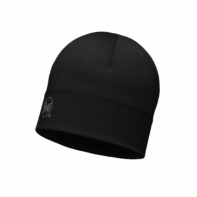Шерстяные шапки Спортивная шерстяная шапка Buff Solid Black 113013.999.10.00.jpg
