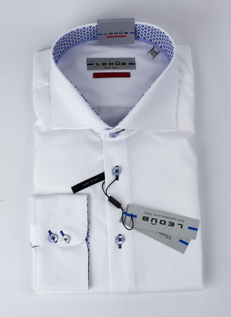 Рубашка Ledub slim fit 0135626_910-150-130-SF-White