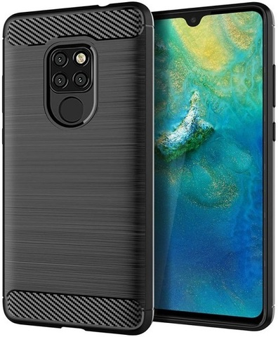 Чехол Huawei Mate 20 цвет Black (черный), серия Carbon, Caseport
