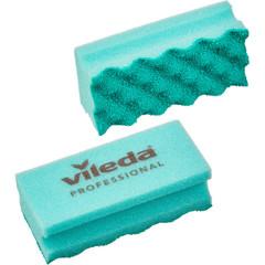 Губки для мытья посуды и уборки Vileda Professional ПурАктив 140х63х45 мм 2 штуки в упаковке зеленые (арт. производителя 150327)