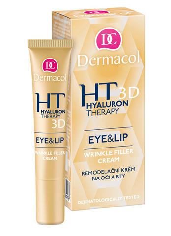 Dermacol Hyaluron Therapy 3D Крем для век и кожи вокруг губ, заполняющий морщины с гиалуроновой кислотой (40+), 15мл