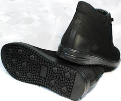 Купить мужские зимние ботинки из натуральной кожи Luciano Bellini 71783 Black.