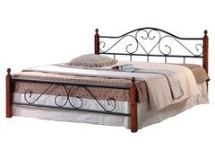 Кровать АТ-815 200x140 (Double Bed) Черный/Красный дуб