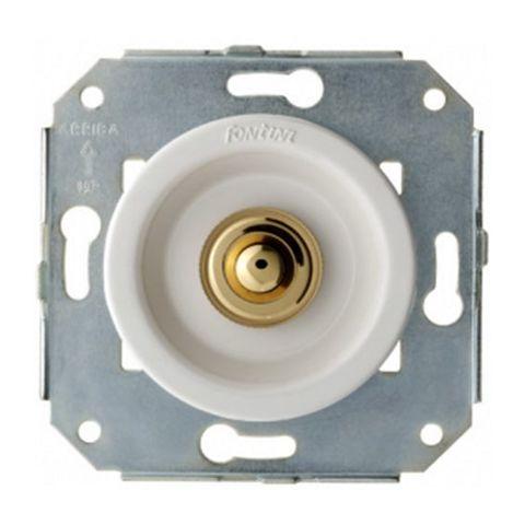 Выключатель/кнопка нажимной 10А 250В~. Цвет Золото/белый. Fontini Venezia(Фонтини Венезия). 35310302