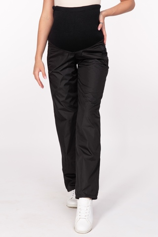 Утепленные брюки для беременных 11170 чёрный