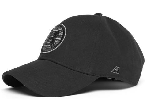 Бейсболка NHL Boston Bruins лого монохромный черная