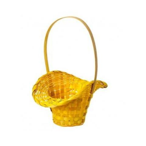 Корзина плетеная Шляпа (бамбук), D9x14/10xH30см, желтый