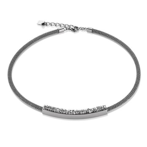 Колье Coeur de Lion 4834/10-1700 цвет серый, серебряный