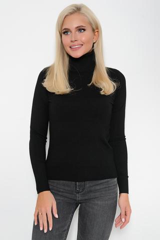 Джемпер (кашемир черный). <p>Модный джемпер из мягкого кашемира отлично сочетается с юбкой, брюками и джинсами, создавая стильный ансамбль практичности и утонченности.</p> <p>&nbsp;</p> <p><span>(Один размер: 42-48)</span></p>