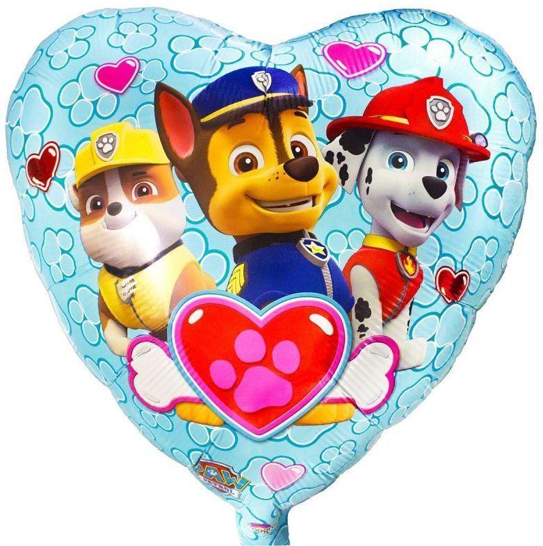 Шары Щенячий Патруль Фольгированный шар сердце Щенячий Патруль 1021029878.jpg