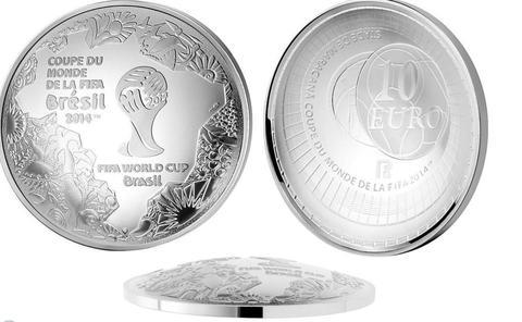 10 евро Чемпионат мира по футболу Бразилия 2014 г. Франция 2014 г.
