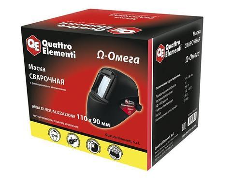 Маска сварочная QUATTRO ELEMENTI  OMEGA (затемнение DIN 11, откидывающийся светофильтр), ц (649-639), шт