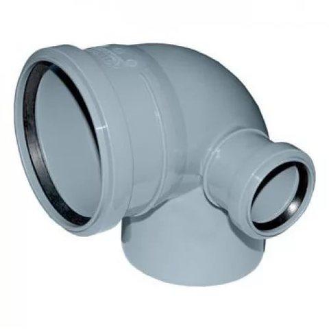 Отвод канализационный 110*90 с левым выходом D50