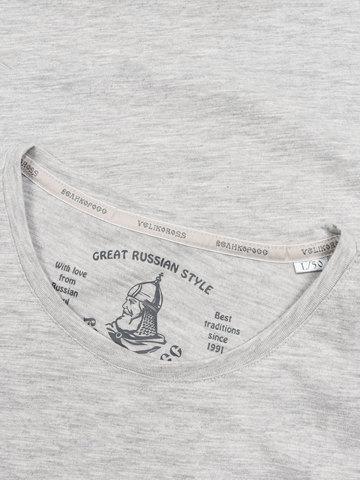 Мужская футболка «Великоросс» цвета меланж