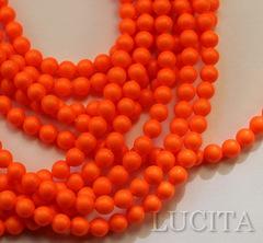 5810 Хрустальный жемчуг Сваровски Crystal Neon Orange круглый 4 мм,  10 штук