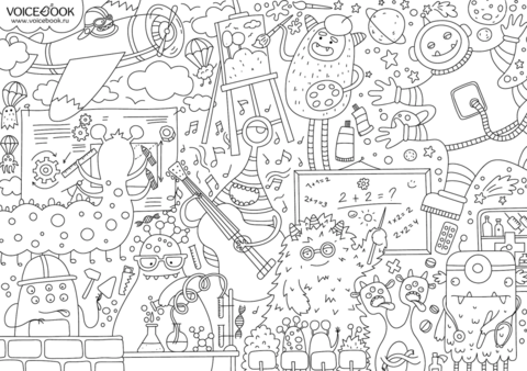 «Монстрики», гигантская раскраска-плакат, формат А0