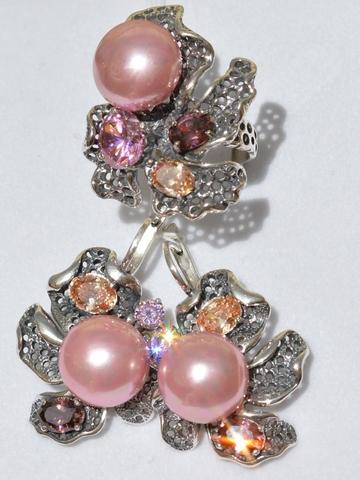 родолит,розовый кварц