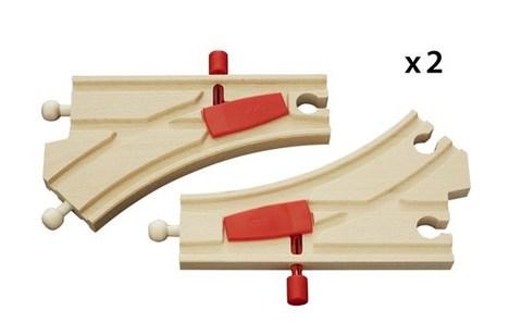 BRIO Ж/д стрелки с переключателем направления, длина 14.4см, 2 шт.