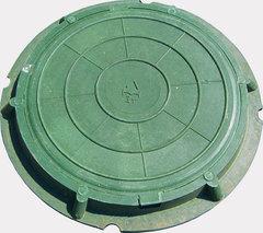 Люк полимерно-песчаный легкий зеленый 750х550х105мм